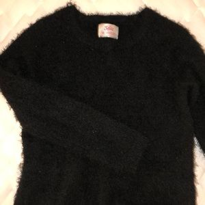Black Justice fuzzy sweater